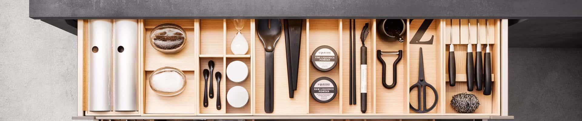 focus on kitchen drawer